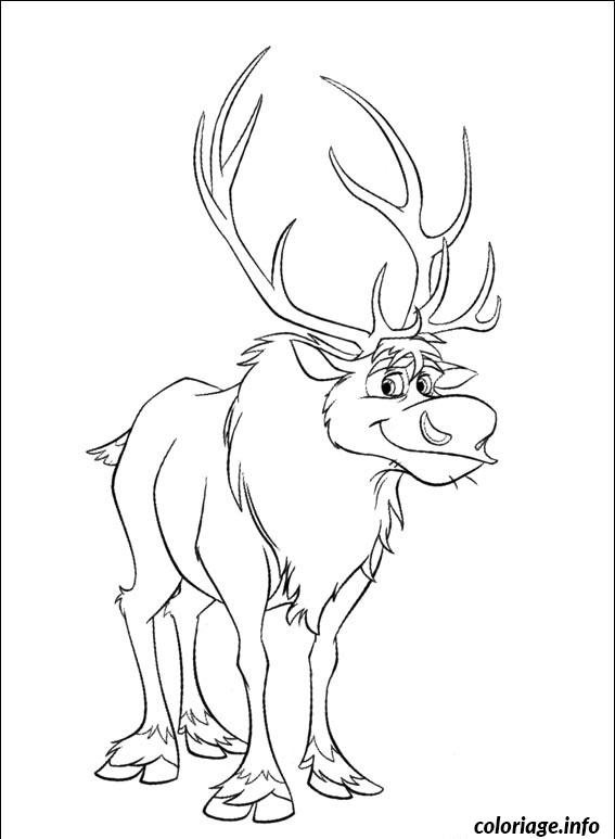 Dessin sven le renne Coloriage Gratuit à Imprimer