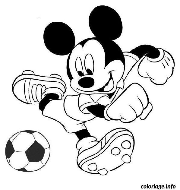 Coloriage mickey joue au foot - Fille joue au foot ...