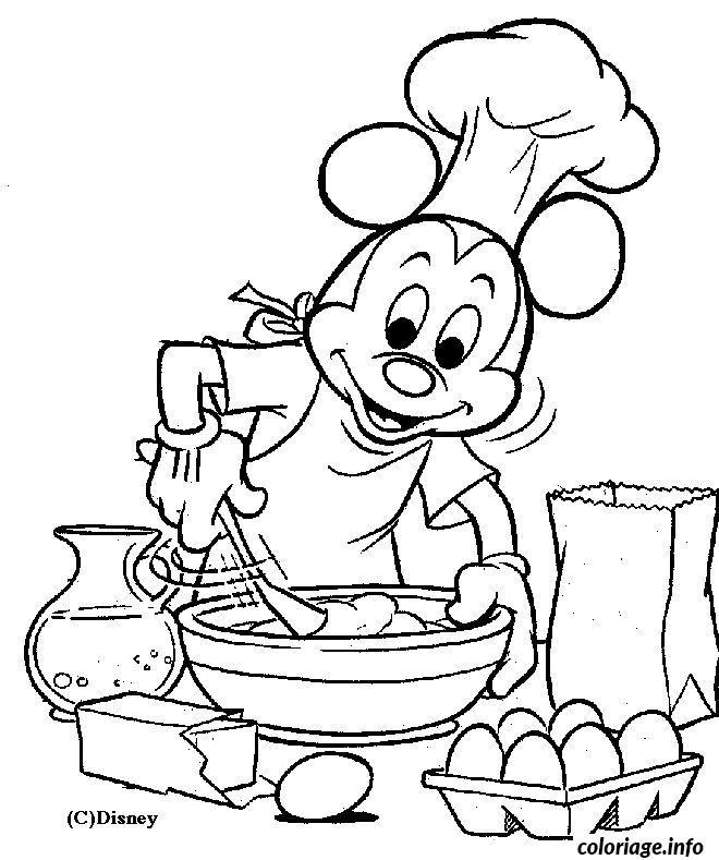 Coloriage Mickey Cuisine Jecolorie Com