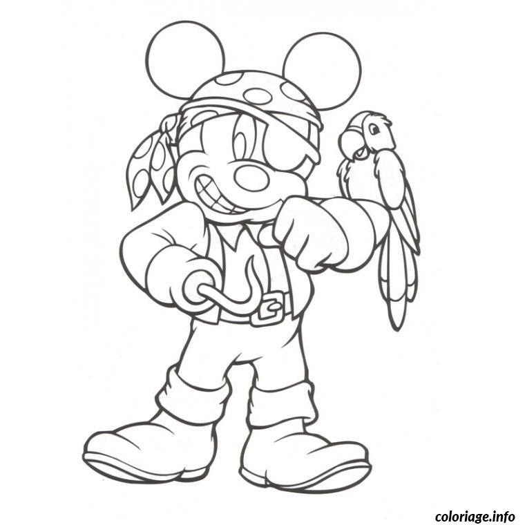 coloriage mickey pirate dessin imprimer - Dessin De Pirate
