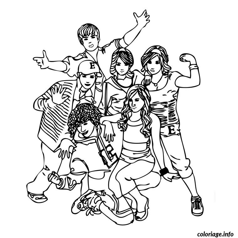 Coloriage High School Musical 1 Dessin à Imprimer