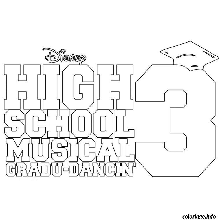 Dessin high school musical 3 Coloriage Gratuit à Imprimer
