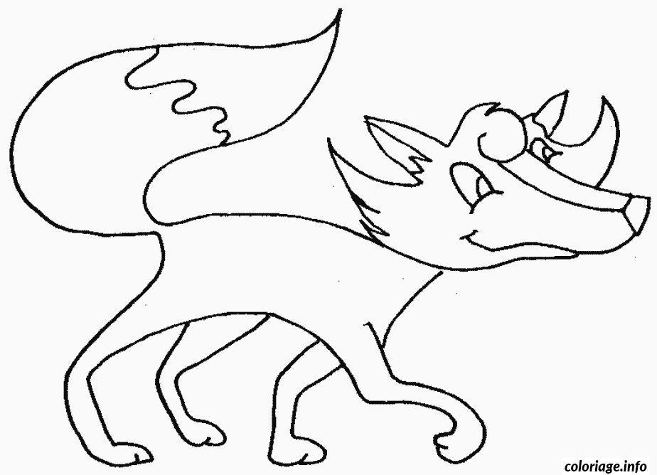 Coloriage renard qui marche - Coloriage renard ...