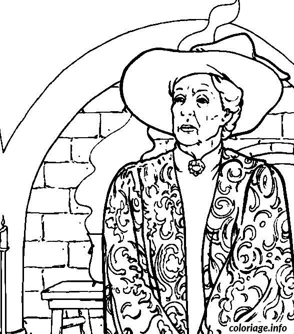 dumbledore coloring pages - coloriage minerva mcgonagall est la directrice adjointe de