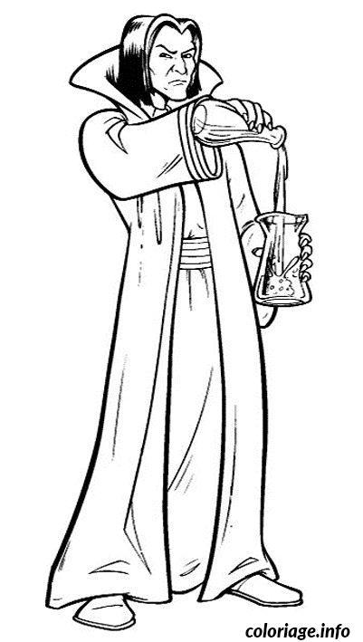 Coloriage Severus Rogue Enseigne