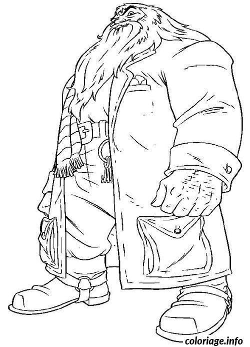 Coloriage Hagrid dessin