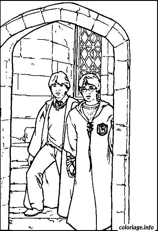 Coloriage Harry Et Ron Dessin
