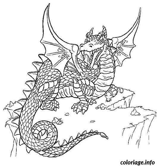 Coloriage dragon dessin - Coloriages de dragons ...