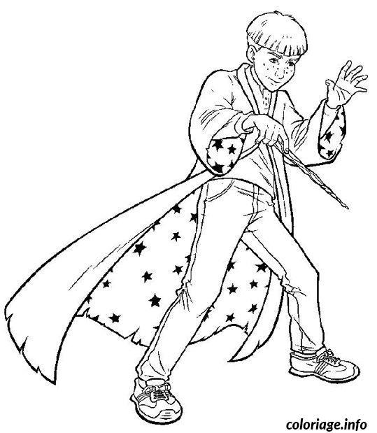 coloriage apprenti magicien dessin gratuit