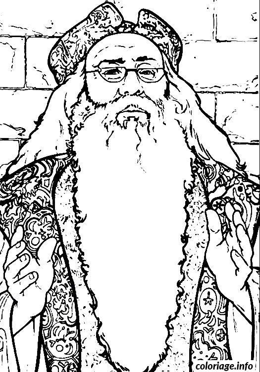 Coloriage Dumbledore Dessin