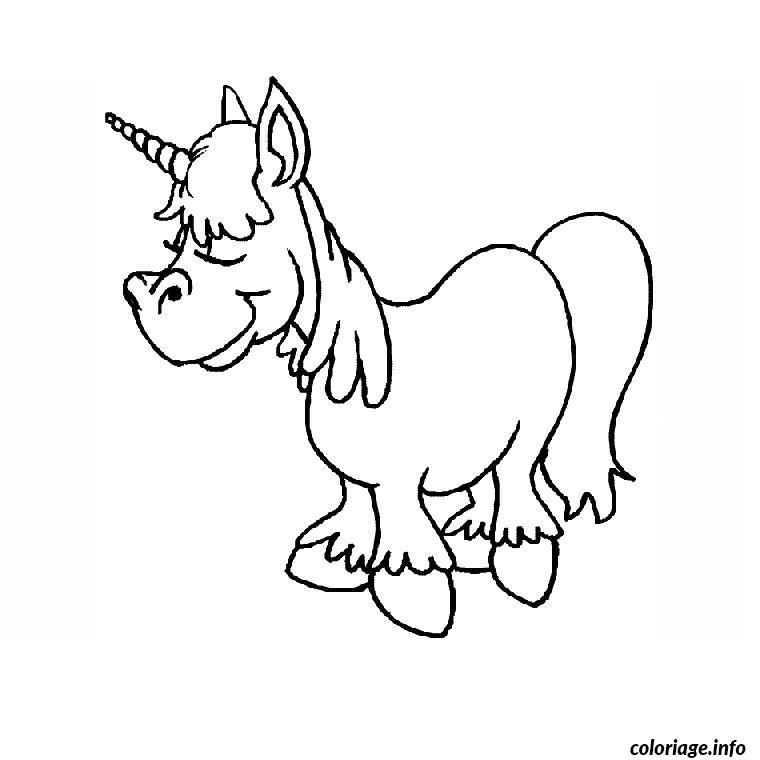 Coloriage poney licorne dessin - Coloriages licorne ...