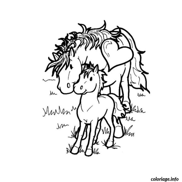Coloriage cheval et poney dessin - Coloriage chevaux imprimer ...