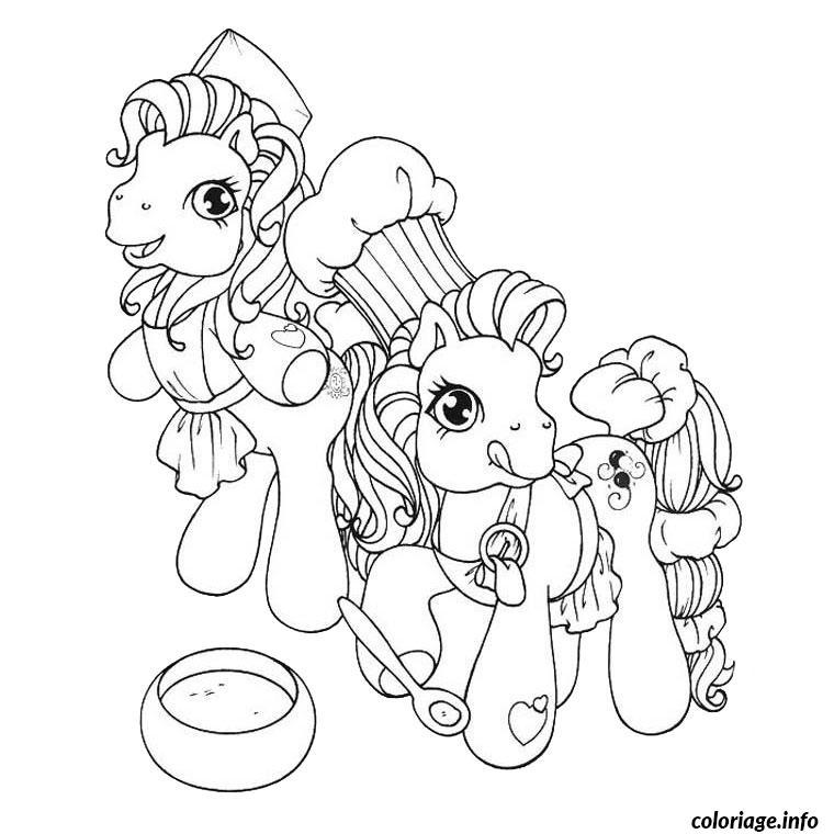 Dessin poney chevaux Coloriage Gratuit à Imprimer