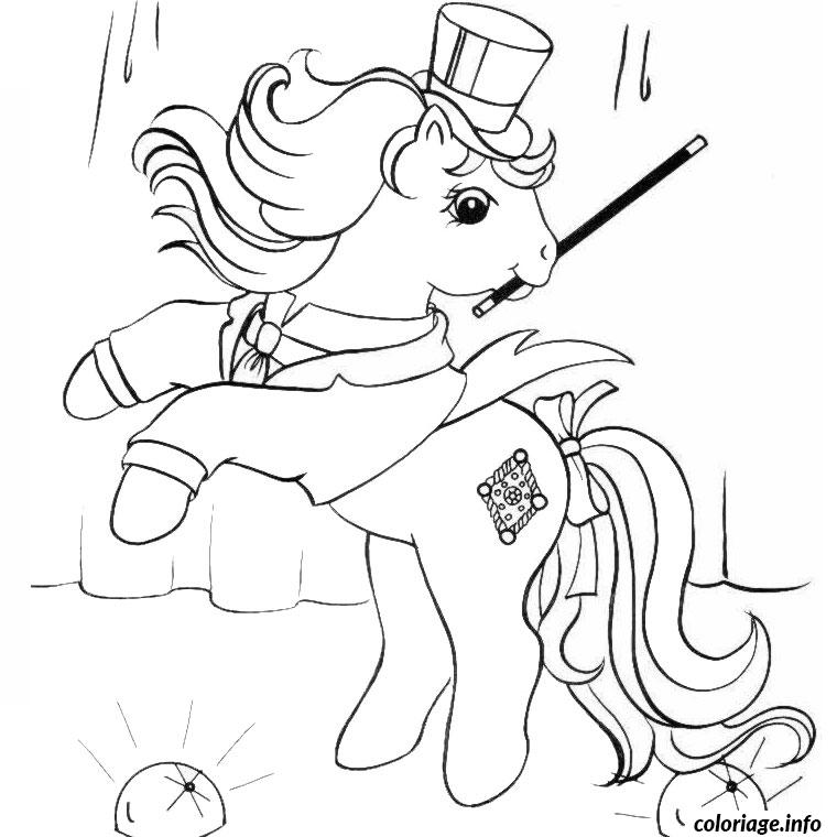 Coloriage poney magique dessin - Coloriage poney ...