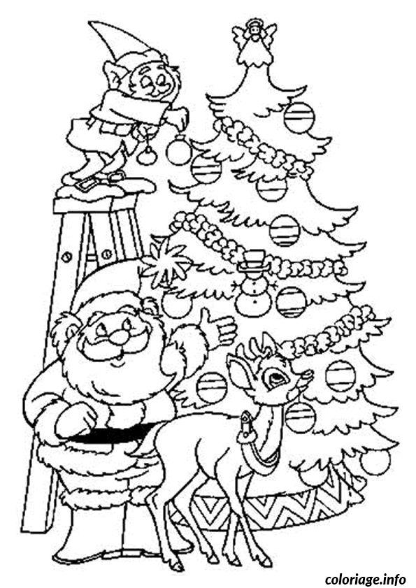 coloriage sapin de noel lutins dessin. Black Bedroom Furniture Sets. Home Design Ideas