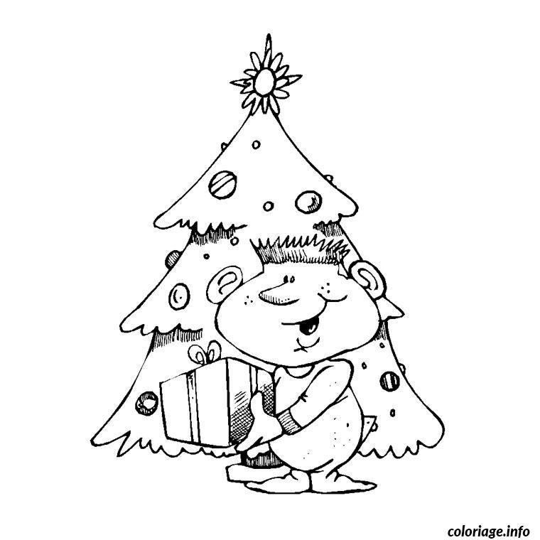 Coloriage sapin et cadeau dessin - Cadeau coloriage ...
