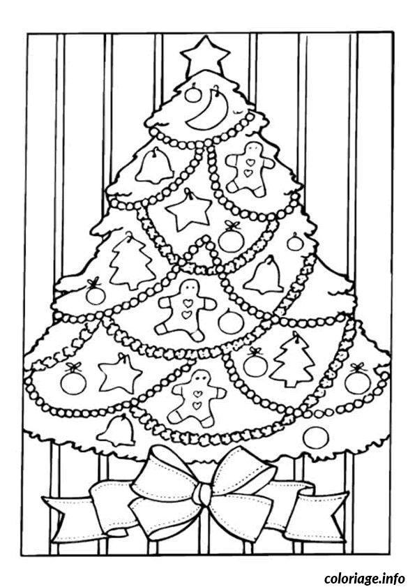 Coloriage sapin de noel guirlandes dessin dessin - Coloriage d un sapin de noel ...