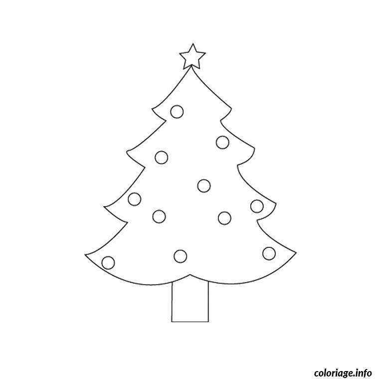 sapin de noel simple coloriage 1768