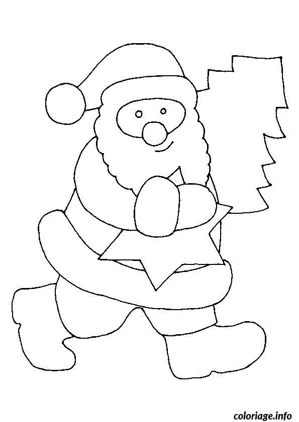 Dessin De Pere Noel Simple : coloriage pere noel simple etoile ~ Pogadajmy.info Styles, Décorations et Voitures