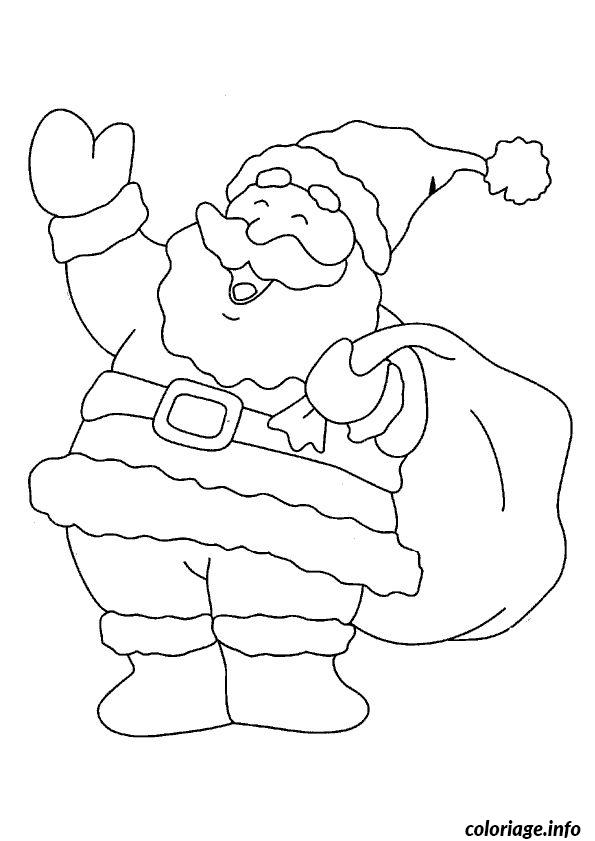 Coloriage pere noel coucou dessin - Coucou pere noel ...
