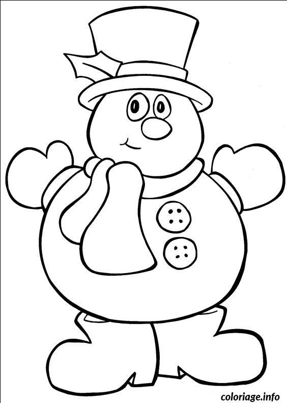 Coloriage bonhomme de neige dessin - Bonhomme de neige a imprimer gratuit ...