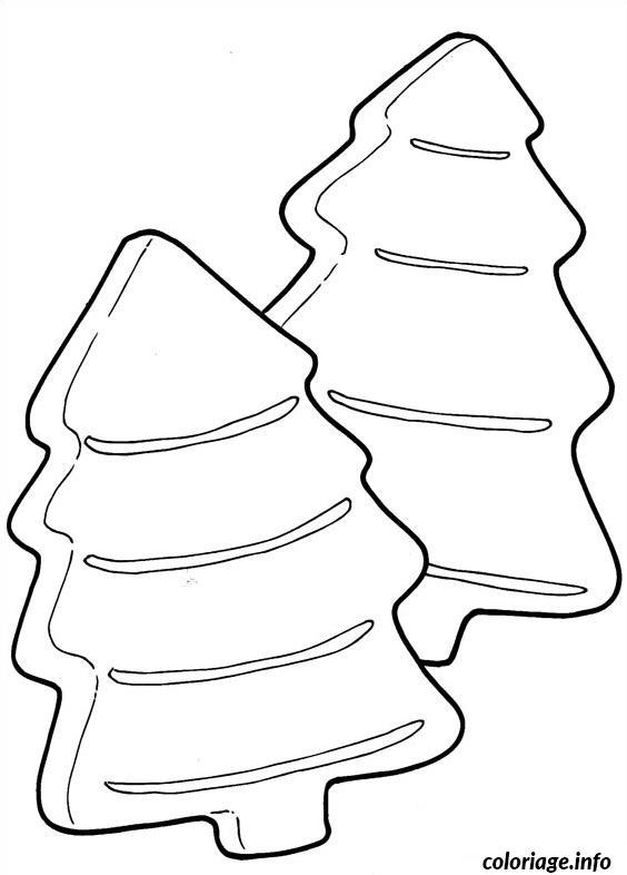 Coloriage galettes en forme de sapins dessin - Forme de sapin a imprimer ...
