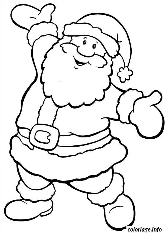 Coloriage Le Pere Noel Simple Danse Dessin