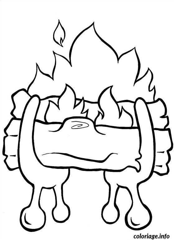 coloriage feu de bois noel dessin. Black Bedroom Furniture Sets. Home Design Ideas