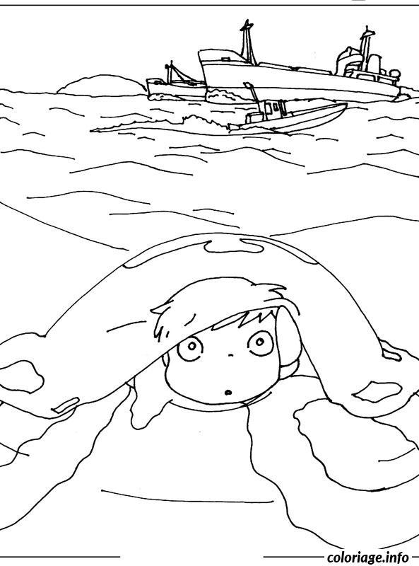 Coloriage ponyo dessin dessin - Coloriage ponyo ...