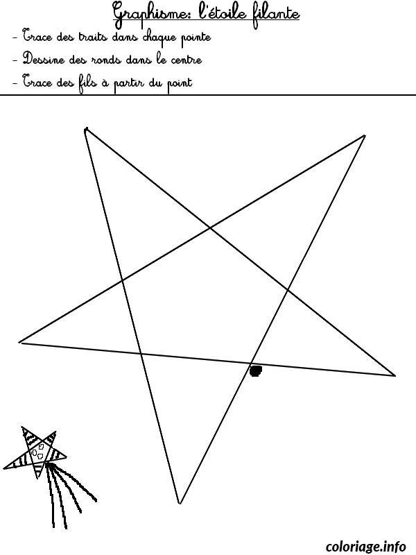 Coloriage jeux graphisme etoile 1 dessin - Dessin a imprimer etoile ...