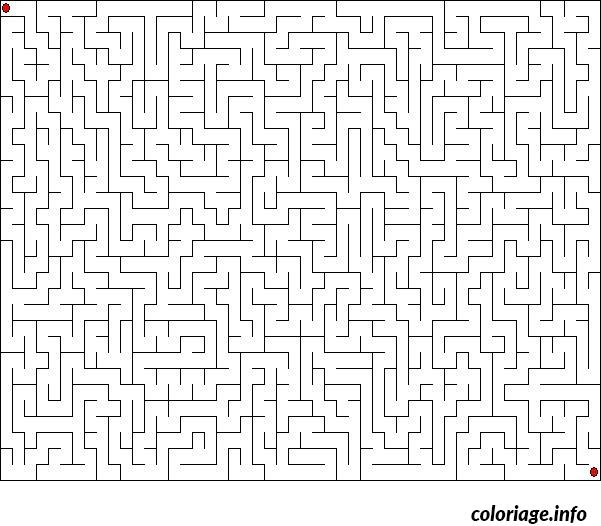 Coloriage jeux labyrinthe difficile dessin - Jeu labyrinthe a imprimer ...