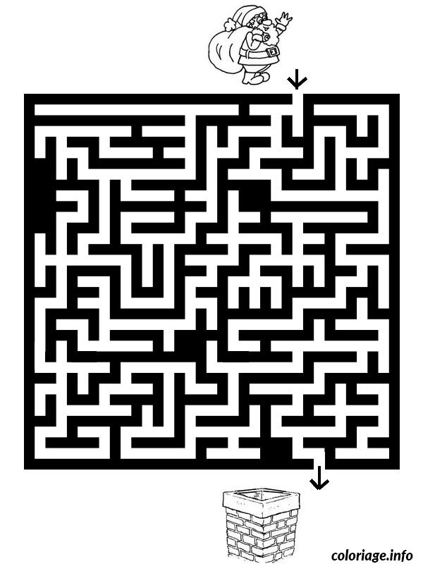 Coloriage labyrinthe noel 8 dessin - Labyrinthe dessin ...