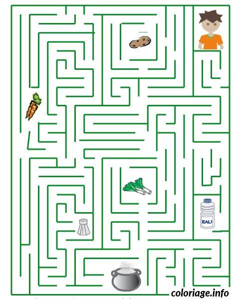 Coloriage labyrinthe carotte biscuit soupe dessin - Jeux labyrinthe a imprimer ...