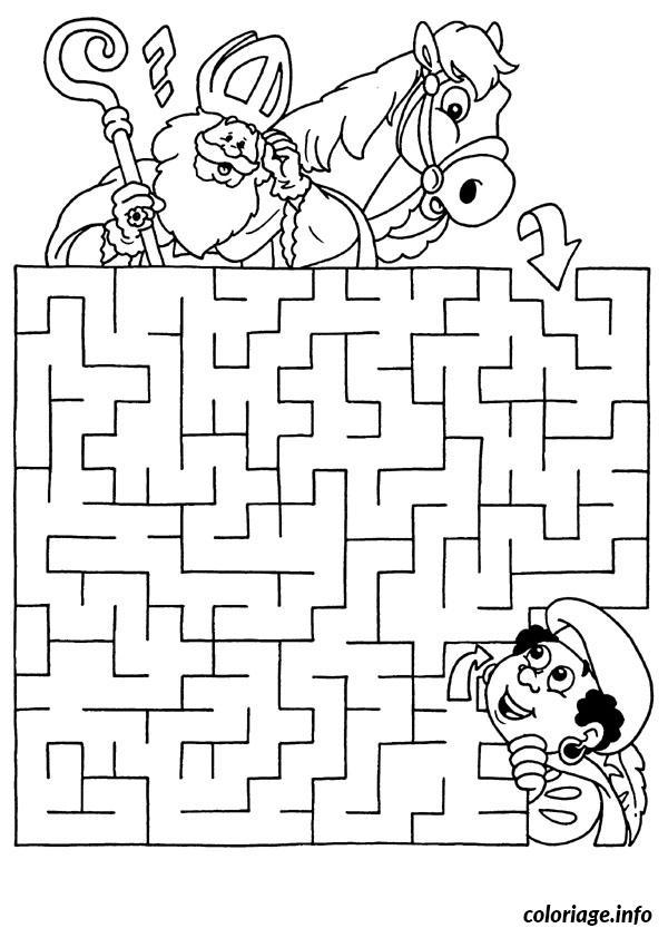 Coloriage Labyrinthe Jeux Cheval Dessin Jeux A Imprimer A Imprimer