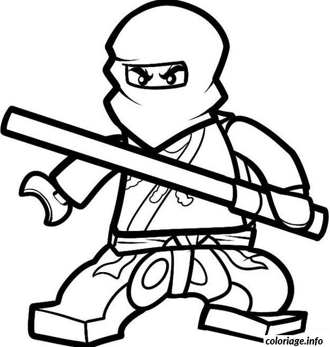 Dessin ninjago cole ninja maitre de la terre Coloriage Gratuit à Imprimer