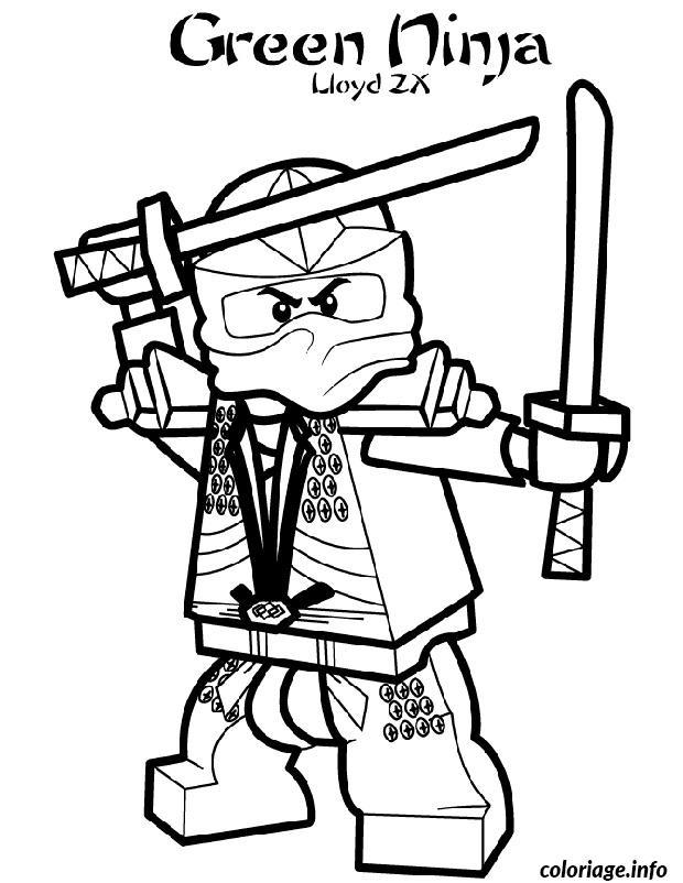 ninjago coloring pages kai 2015 exo | Coloriage Ninjago Green Ninja 2 dessin