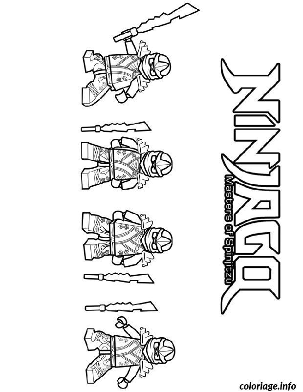 Dessin 4 ninjago ninja Coloriage Gratuit à Imprimer