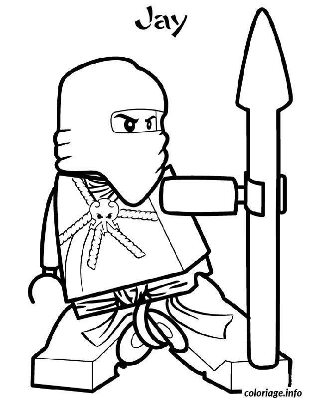 Dessin ninjago jay ninja maitre foudre Coloriage Gratuit à Imprimer