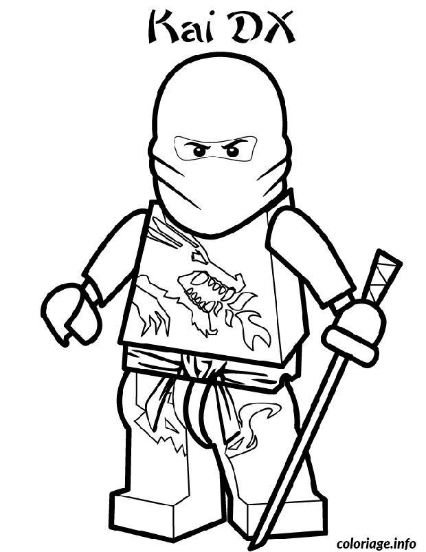 Coloriage ninjago kai ninja - Dessiner un ninja ...