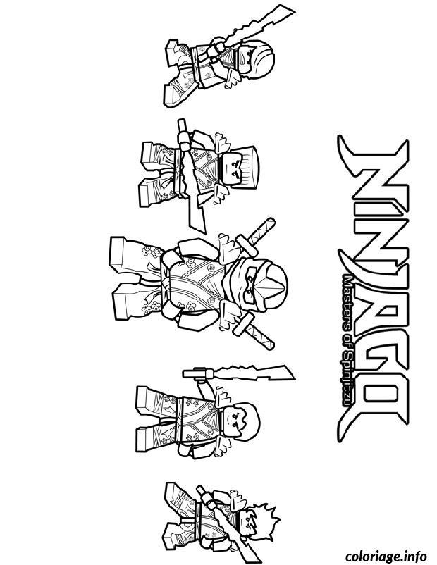 Dessin ninjago 4 ninjas Coloriage Gratuit à Imprimer