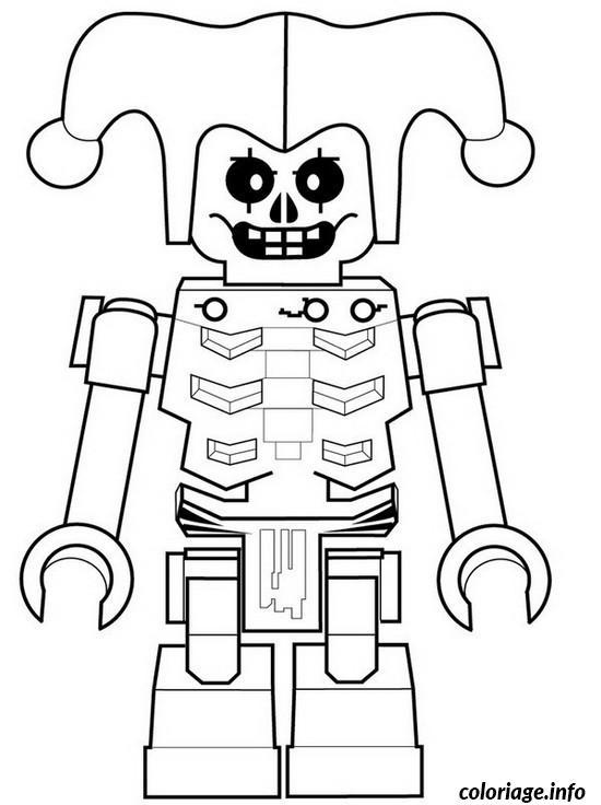 Dessin ninjago krazi squelette de la foudre Coloriage Gratuit à Imprimer