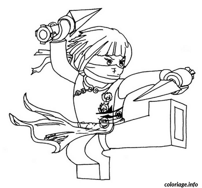 Dessin ninjago nya ninja Coloriage Gratuit à Imprimer