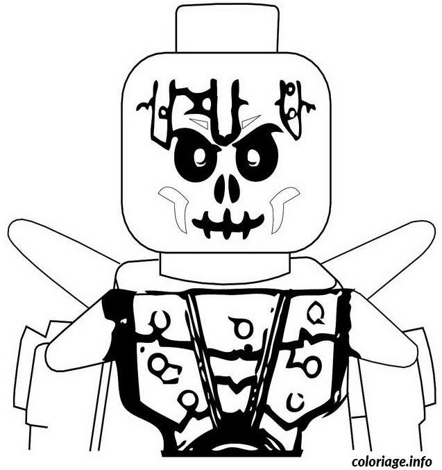 Dessin ninjago squelette de la glace Coloriage Gratuit à Imprimer