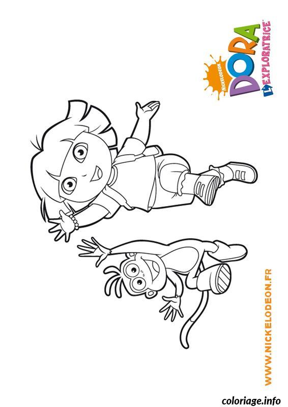 Coloriage Dora Babouche Saute Dessin Dora A Imprimer