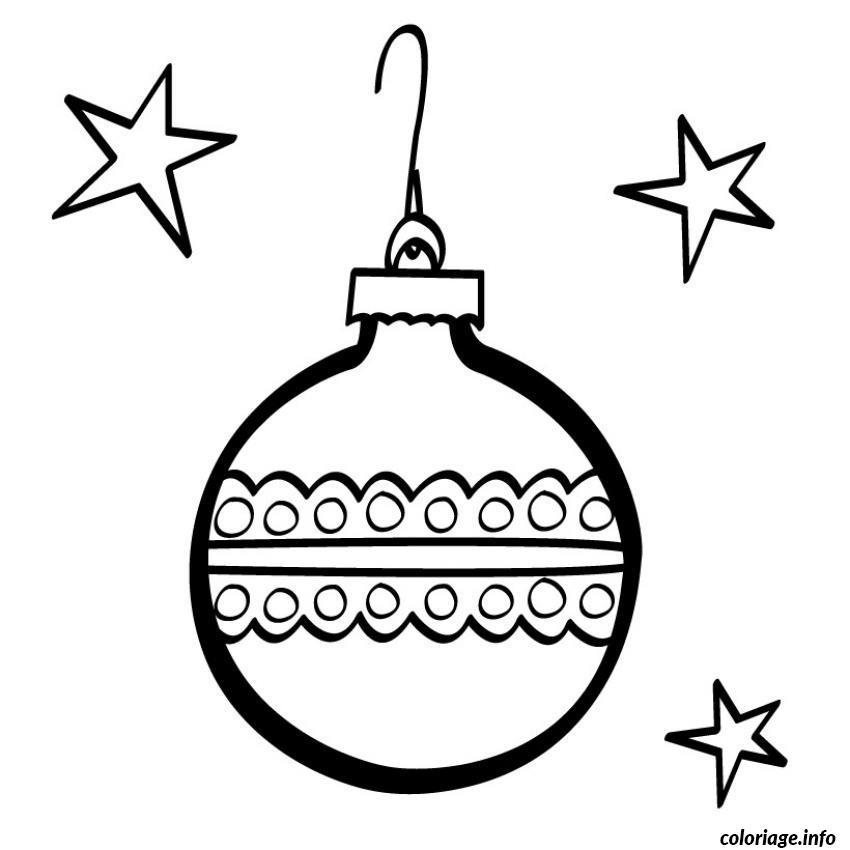 Coloriage Decorations Noel Gratuit dessin