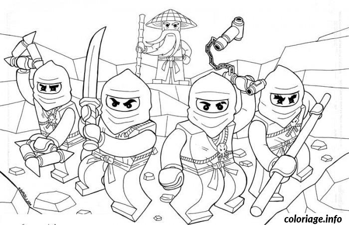 Coloriage Lego ninjago lego team colouring pages Dessin à Imprimer