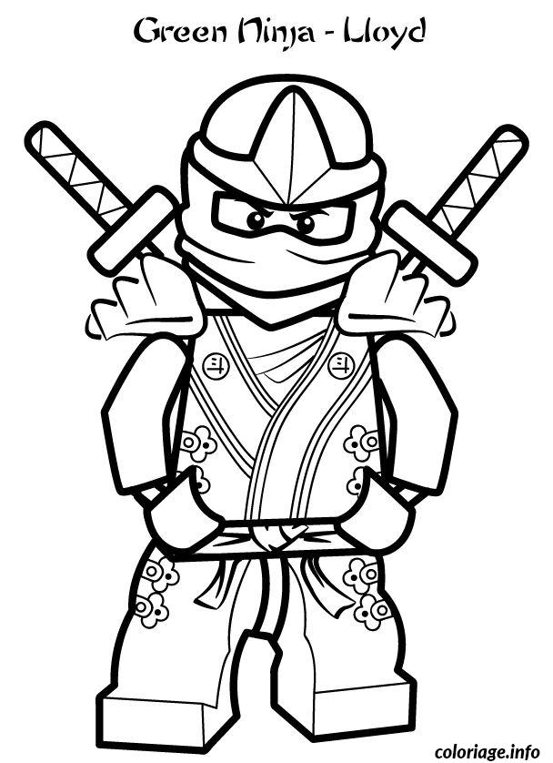 Dessin green ninjago llyod lego Coloriage Gratuit à Imprimer
