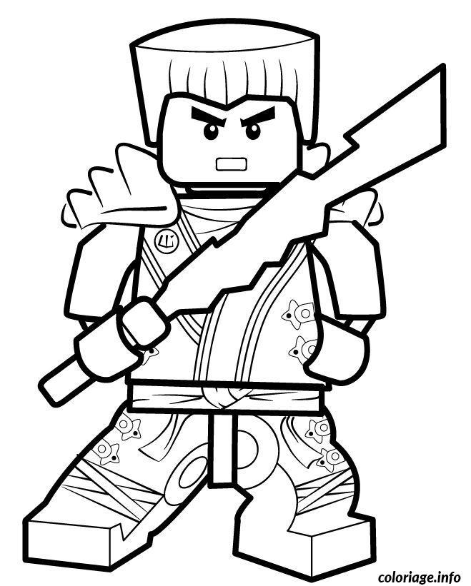 coloriage ninjago chef dessin dessin