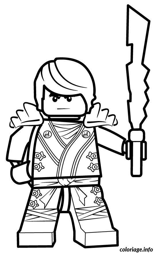 Dessin ninjago lego en forme Coloriage Gratuit à Imprimer