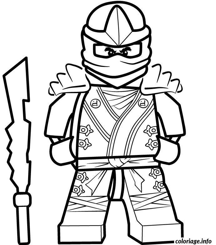 Coloriage ninjago se prepare pour combat dessin - Dessiner un ninja ...